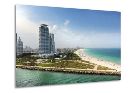 Miami Beach in Florida with Luxury Apartments and Waterway-Gino Santa Maria-Metal Print