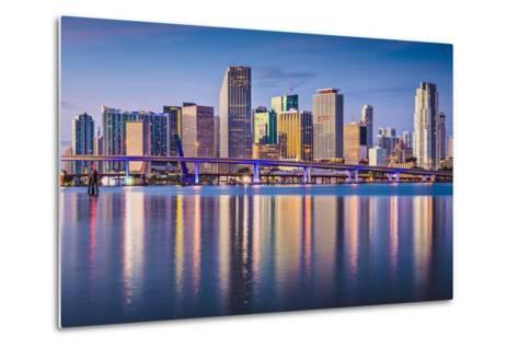 Miami, Florida, USA Downtown Skyline at Dawn.-SeanPavonePhoto-Metal Print
