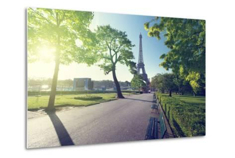 Sunny Morning and Eiffel Tower, Paris, France-Iakov Kalinin-Metal Print