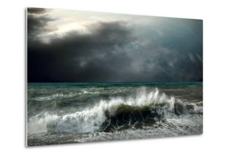 View of Storm Seascape-yuran-78-Metal Print