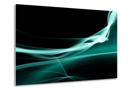 Turquoise Smoke-Nneirda-Metal Print