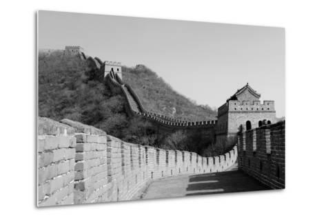 Great Wall in Black and White in Beijing, China-Songquan Deng-Metal Print