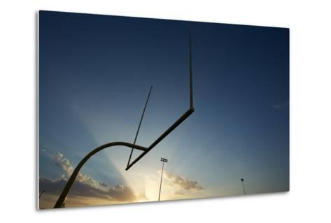 American Football Goal Posts or Uprights at Sunset-33ft-Metal Print
