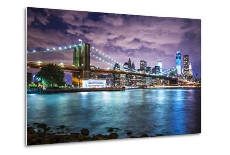 New York City with Dramatic Cloud Cover.-SeanPavonePhoto-Metal Print