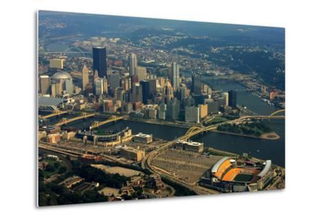 Pittsburgh Pennsylvania Aerial View-shutterrudder-Metal Print