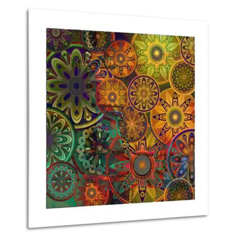 Art Vintage Floral Background-Irina QQQ-Metal Print