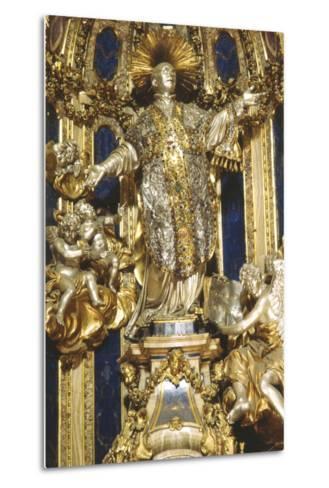 Niche with Statue of St Ignatius, Church of the Gesù, Rome--Metal Print