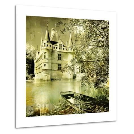 Castle On Water -Artwork In Painting Style-Maugli-l-Metal Print