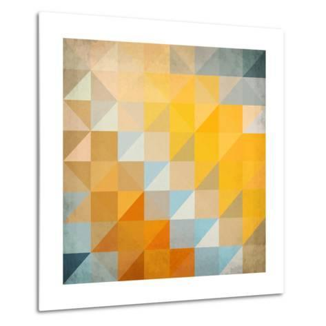 Abstract Triangles Geometry-art_of_sun-Metal Print