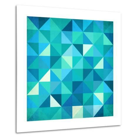 Abstract Colorful Triangles-art_of_sun-Metal Print