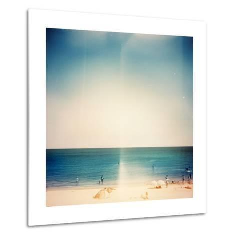 Retro Medium Format Photo. Sunny Day On The Beach. Grain, Blur Added As Vintage Effect-donatas1205-Metal Print