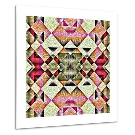 Native American Traditional Decorative Tribal Pattern Design Background-kgtoh-Metal Print