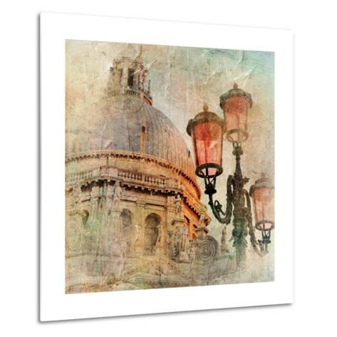 Venetian Pictures - Artwork In Painting Style-Maugli-l-Metal Print