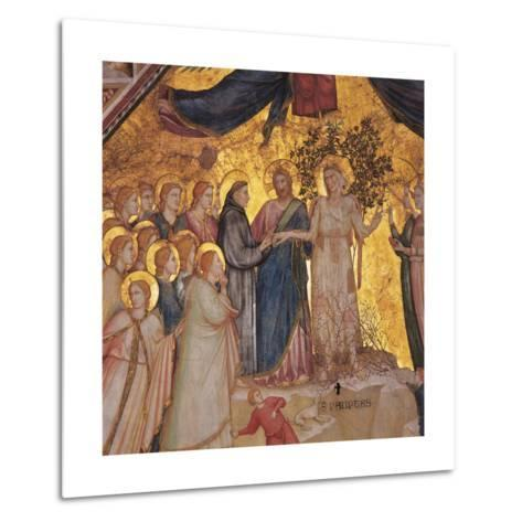 Mystical Marriage of St. Francis to Poverty-Giotto di Bondone-Metal Print