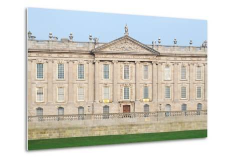 West Front, Chatsworth House, Derbyshire--Metal Print