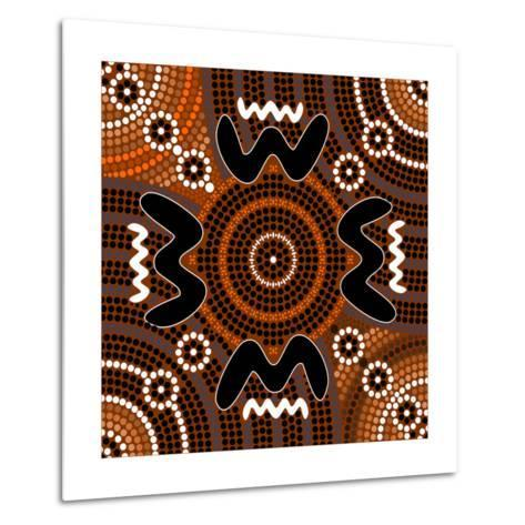 A Illustration Based On Aboriginal Style Of Dot Painting Depicting Difference-deboracilli-Metal Print