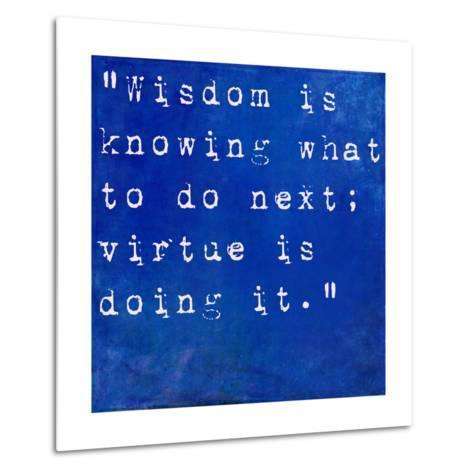 Inspirational Quote By David Star Jordan On Earthy Blue Background-nagib-Metal Print