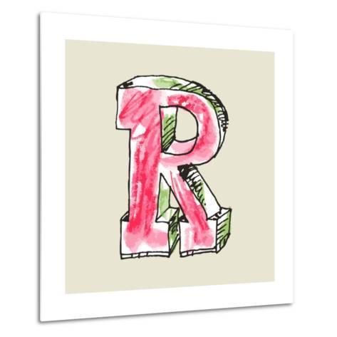 Crayon Alphabet, Hand Drawn Letter R-Andriy Zholudyev-Metal Print
