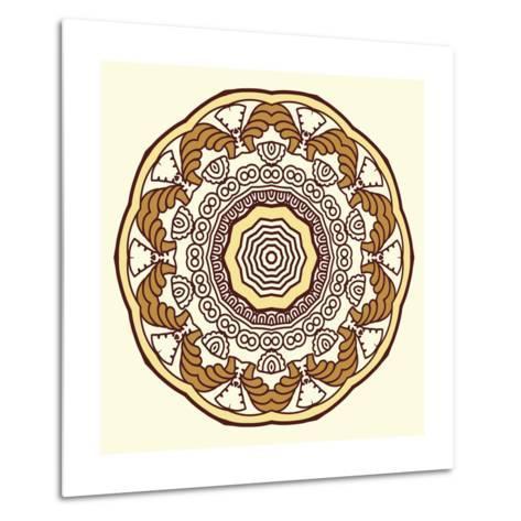 Round Decorative Design Element-epic44-Metal Print