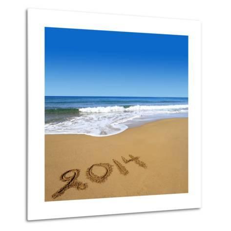 2014 Written On Sandy Beach-viperagp-Metal Print