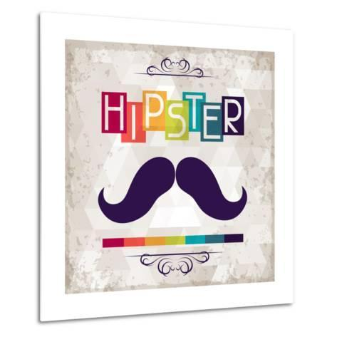 Hipster Background In Retro Style-incomible-Metal Print