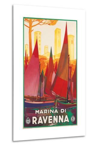 Travel Poster for Marina di Ravenna, Italy--Metal Print