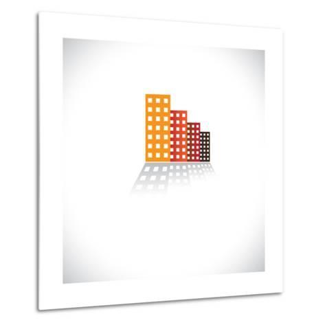 Colorful Commercial Buildings,Offices, Apartments-smarnad-Metal Print
