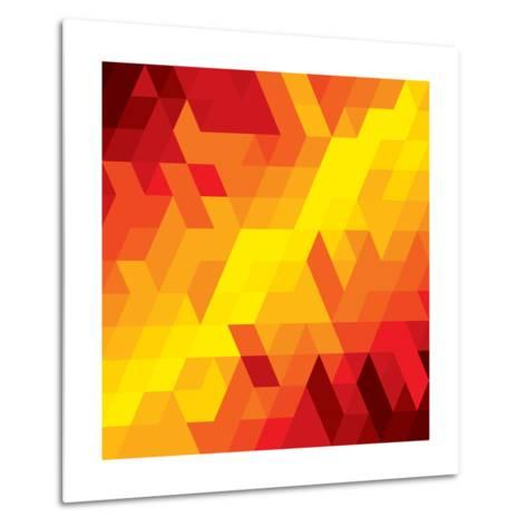 Abstract Colorful Of Diamond, Cube And Square Shapes-smarnad-Metal Print