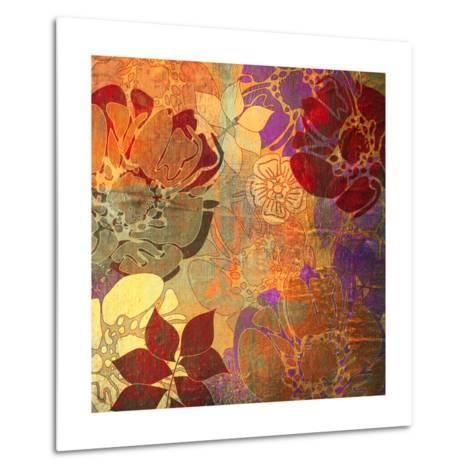 Art Floral Grunge Background Pattern. To See Similar, Please Visit My Portfolio-Irina QQQ-Metal Print