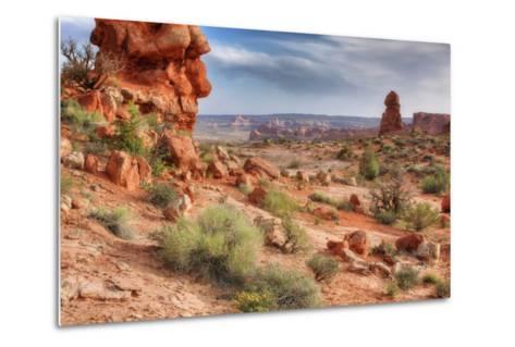 Rocky Southwest Landscape, Moab-Vincent James-Metal Print