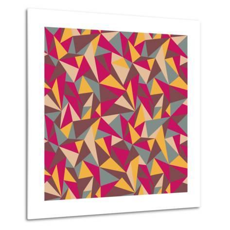 Abstract Geometric Colorful Pattern-SelenaMay-Metal Print