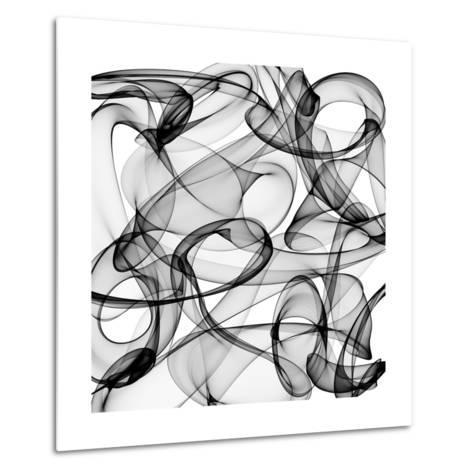 Abstract Black And White Background-alexkar08-Metal Print