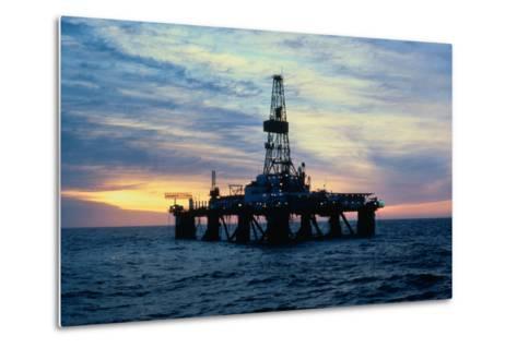 Oil Drilling Rig--Metal Print