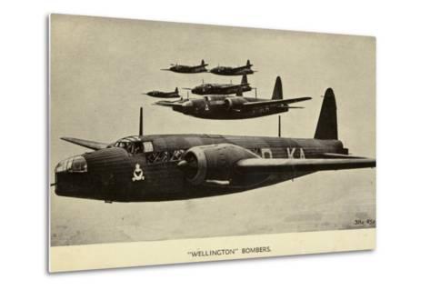 Wellington Bombers in Flight--Metal Print