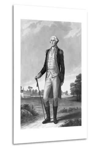 Painting of George Washington by George Hicks--Metal Print