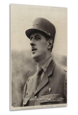 Charles De Gaulle--Metal Print