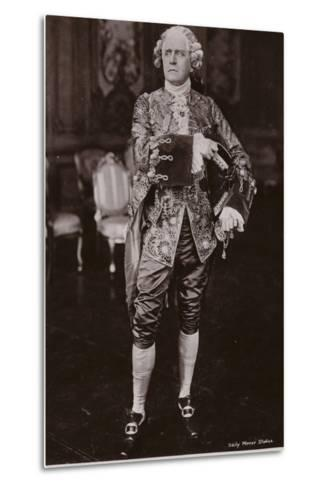 Sir Herbert Beerbohm Tree, English Stage Actor and Theatre Manager--Metal Print