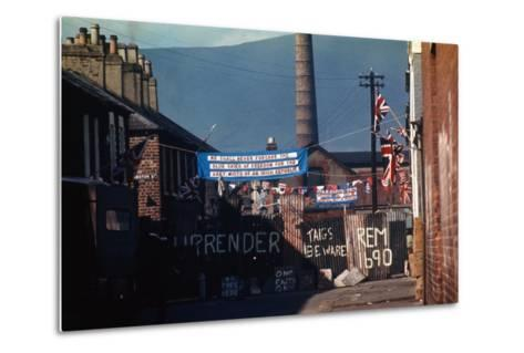 Barricade Erected by Belfast Protestants 1969--Metal Print