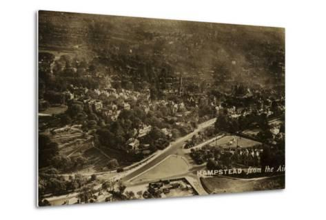 Hampstead from the Air--Metal Print