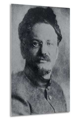 Portrait of Leon Trotsky--Metal Print