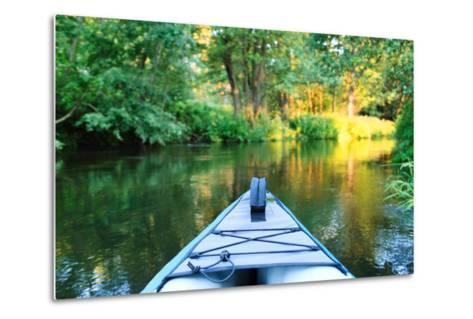 Kayak on a Small River-maksheb-Metal Print