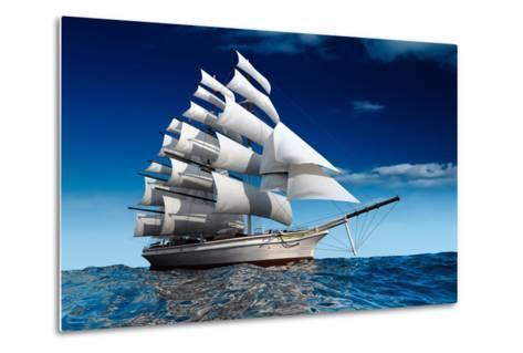 Sailing Ship-Antartis-Metal Print