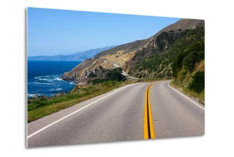 Highway through California Coast-Andy777-Metal Print