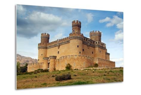 Madrid,  SPAIN - 20 Juny, 2009, Manzanares El Real Castle (Spain) Build in the 15Th. Century-TTstudio-Metal Print