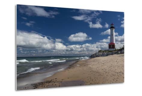 Crisp Point Lighthouse-johnsroad7-Metal Print