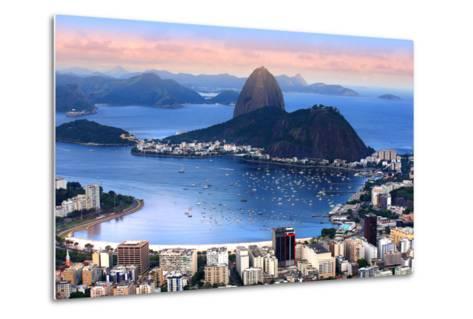 Rio De Janeiro, Brazil in the Evening Sun Light-SNEHITDESIGN-Metal Print