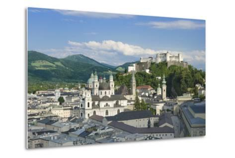 Salzburg City Historic Center with Cathedral-Peter Hermes Furian-Metal Print
