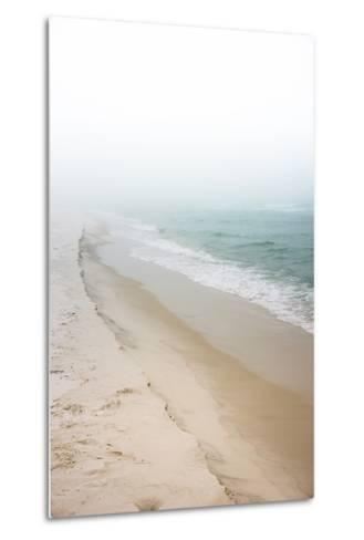 Foggy Dreamy Day at the Beach-forestpath-Metal Print