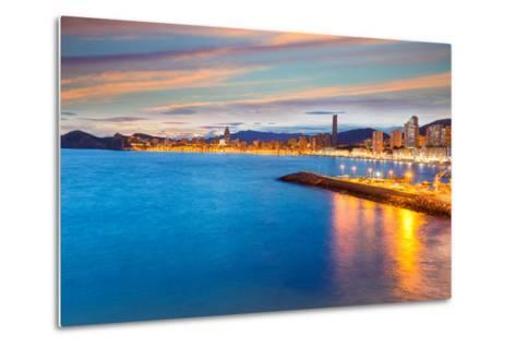 Benidorm Alicante Sunset Playa De Poniente Beach in Spain Valencian Community-holbox-Metal Print