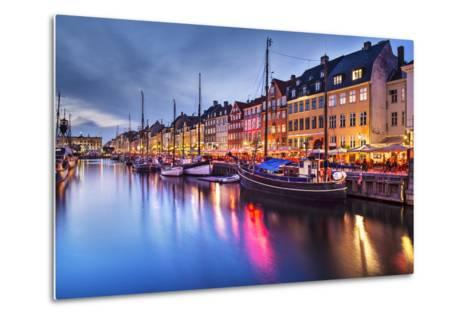 Nyhavn Canal in Copenhagen, Demark.-SeanPavonePhoto-Metal Print